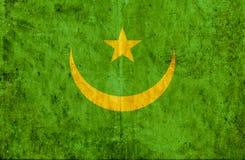 Grungy pappers- flagga av Mauretanien royaltyfri illustrationer