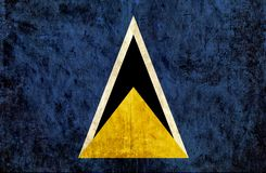 Grungy pappers- flagga av Saint Lucia royaltyfri illustrationer