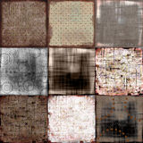 Grungy Patchwork Background. A rich, textural background for scrapbooking and design, 12x12 inches in size Stock Images