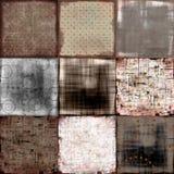 grungy patchwork för bakgrund stock illustrationer