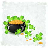 Grungy Patrick's Day Card Royalty Free Stock Photos