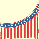 Grungy patriotic background. Detailed illustration of a grungy stars and stripes backbround Stock Photography