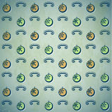 Grungy pattern with Christmas baubles Royalty Free Stock Photo