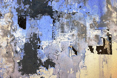 Grungy peeling cracked wall texture Stock Photography