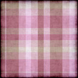 Grungy pink and beige plaid background Stock Photos