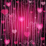 Grungy pink valentine pattern Stock Photography