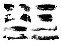 Grungy Pinselanschläge des Aquarells Stockbild