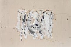 Grungy plakat na ścianie obraz stock