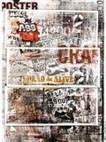 Grungy Plakatkunst Stockfotos