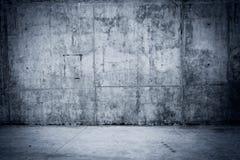 Grungy podłoga jako tło i betonowa ściana Fotografia Stock
