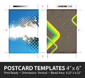 Grungy Postcard Templates Royalty Free Stock Photos