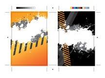 Grungy Postkarte-Schablone Lizenzfreie Stockfotos