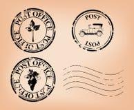 Grungy postzegels vector illustratie