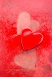 Grungy röda hjärtor Royaltyfri Foto