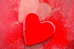 Grungy röda hjärtor Arkivfoto