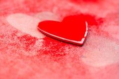 Grungy röda hjärtor Arkivbilder