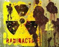 Grungy radiation sign Stock Image