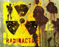 Grungy radiation sign Stock Image