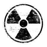 Grungy Radiation Symbol Stock Images