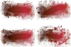 grungy rastrerad vektor för baner Royaltyfri Fotografi