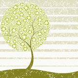 Grungy Recycling-tree concept Royalty Free Stock Photo
