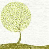 Grungy Recycling-tree concept Stock Photography