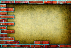 Grungy red brick frame Stock Image
