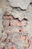 Old decaying wall. old brick broken wall. Ruin. Urban backyard. royalty free stock photography