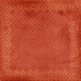 Grungy Red Christmas Frame Background. Decorated Grungy Red Christmas Frame Background with damask and spots Royalty Free Stock Photo