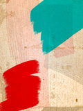 Grungy red and green paint strokes Stock Image