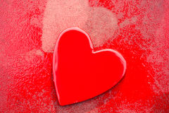 Grungy Red Hearts Stock Photo