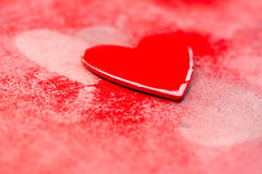 Grungy Red Hearts Stock Images