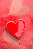 Grungy Red Hearts Stock Photos