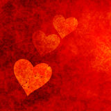 Grungy Red Hearts. 2D rendered image of red hearts Royalty Free Stock Image