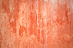 Grungy red wall with lots of streaks Royalty Free Stock Photography