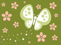 Grungy Retro Butterfly Stock Images