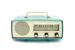 Grungy retro radio. On  isolated white background Stock Photography