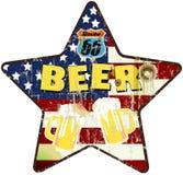 Grungy retro route 66 het teken van de bierbar vector illustratie