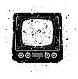 Grungy retro tv set Stock Image