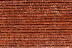Grungy riktning för landskap för bakgrund för modell för vägg för röd tegelsten arkivbilder