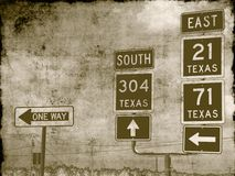 Grungy road signs Royalty Free Stock Photography