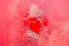 Grungy Rode Harten Royalty-vrije Stock Afbeelding