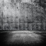 Grungy room. Grungy monotone concrete room with wall and floor Stock Image