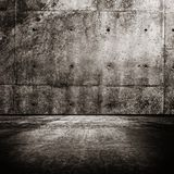 Grungy room. Background with concrete wall and floor Royalty Free Stock Photography