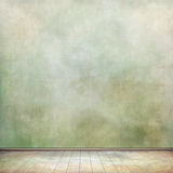 Grungy room. Grungy wall and old wooden floor for your art Royalty Free Stock Photography