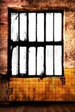 Grungy room with blank window frame Stock Image