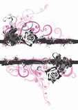 Grungy roses. Grungy illustration of a floral background Royalty Free Stock Images