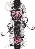 Grungy roses. Illustration of roses and grungy patterns Royalty Free Stock Image