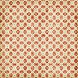 Grungy roter Weihnachtsschneeflocke-Hintergrund Stockfoto