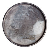 Grungy round metal plate Stock Photography